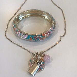 Lilly Pulitzer Necklace Bracelet Set